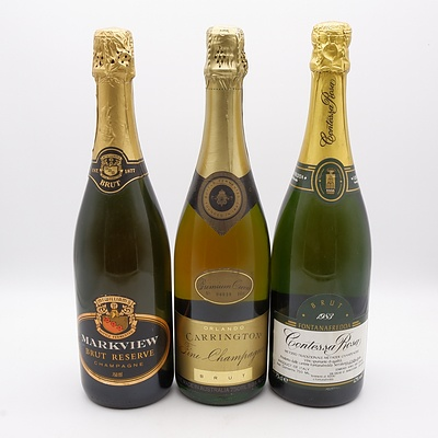 Group of Six Various Champagnes