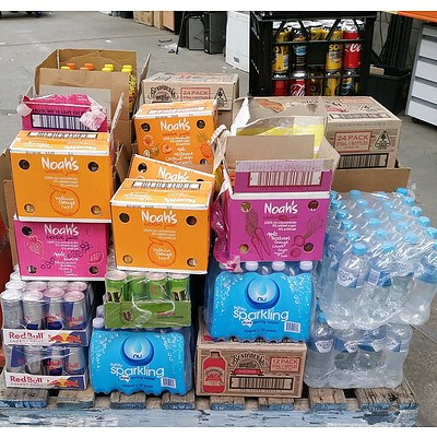 Assorted Soft Beverages - Pallet Lot over 650 individual items