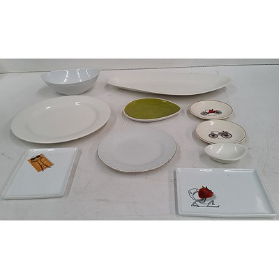 Assorted Crockery Platters & Plates - Bulk Lot - Over Individual Items