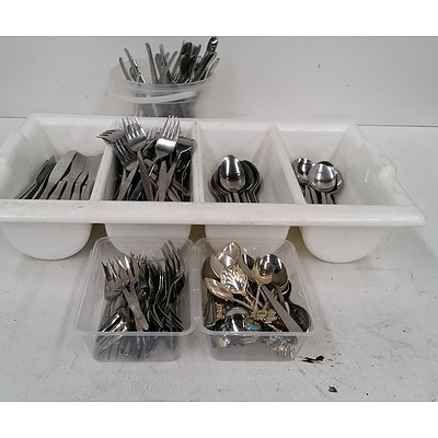 Knives Forks  & Spoons - Box Lot Over 150pieces