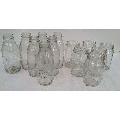 Glass Storage Jars - Crate Lot