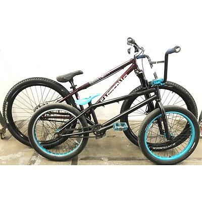 Eastern NightTrain Single Speed Hybrid Bike & Black BMX Bike
