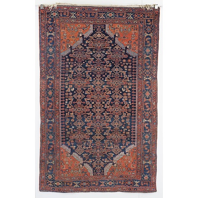 Antique Persian Tribal Bidjar Hand Knotted Wool Pile Rug