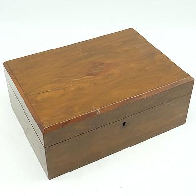 Late Victorian Walnut Box Circa 1880