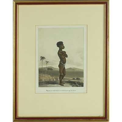 Chromolithograph of a New Guinea Native Boy Aged 10