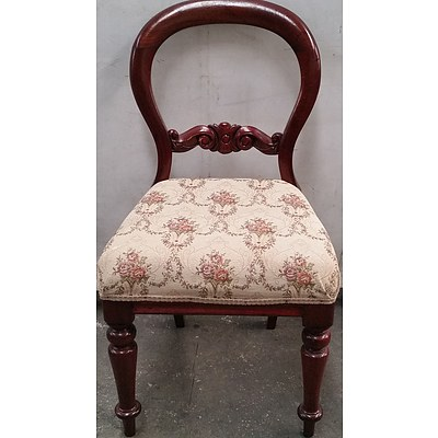 Antique Style Balloon Back Chair