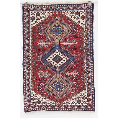 Small Persian Qashqai Hand Knotted Wool Pile Rug