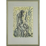 Bernard John Lawson (1909-1998) Nude Study Pastel on Paper