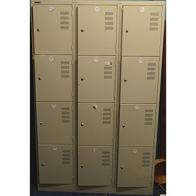 Namco Personal Lockers - Bay of 12