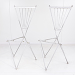 Four Steel and Wire Chairs, Retro Style