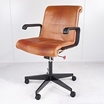 Leather Upholstered Executive Office Chair