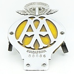 Vintage AA (Automobile Association) South Africa Car Badge