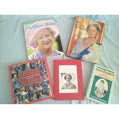 Royal Family Books: Queen Elizabeth, The Queen Mother (Qty: 5)