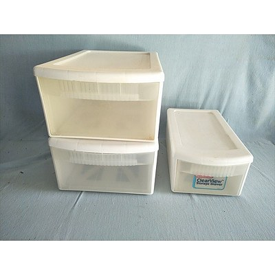 Clear View Stackable Storage Drawers (Qty: 3)
