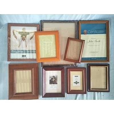 Timber Photo & Picture Frames (Qty: 9)