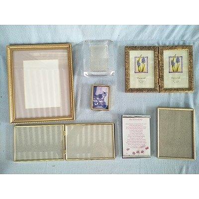 Metal, Brass & Glass Photo Frames (Qty: 7)