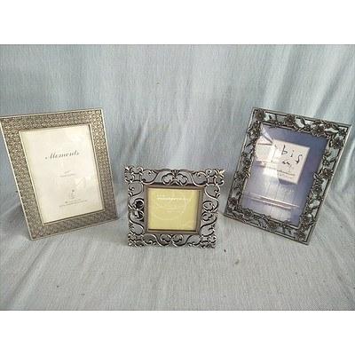 3 Metal Photo Frames
