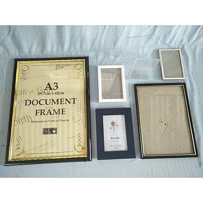 Photo & Document Frames (Qty: 7)