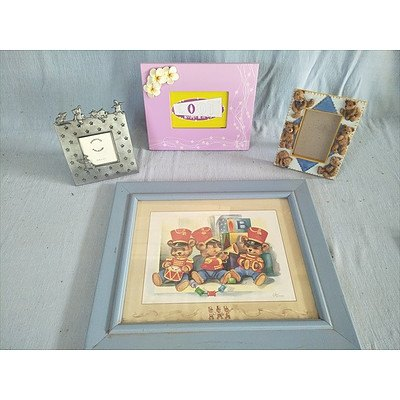 Kids Framed Print And Photo Frames (Qty: 4)