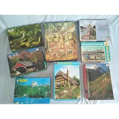 8 x Jigsaw Puzzles (320 - 600 Pieces)