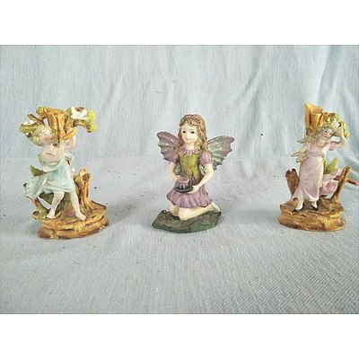 The Fairy Collection Tea Fairy (Item 5590 & Piece Number 1426) By Dezine Plus 2 Other Fairy Ornaments