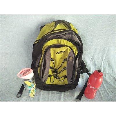 Triplite Backpack And 2 Drink Bottles