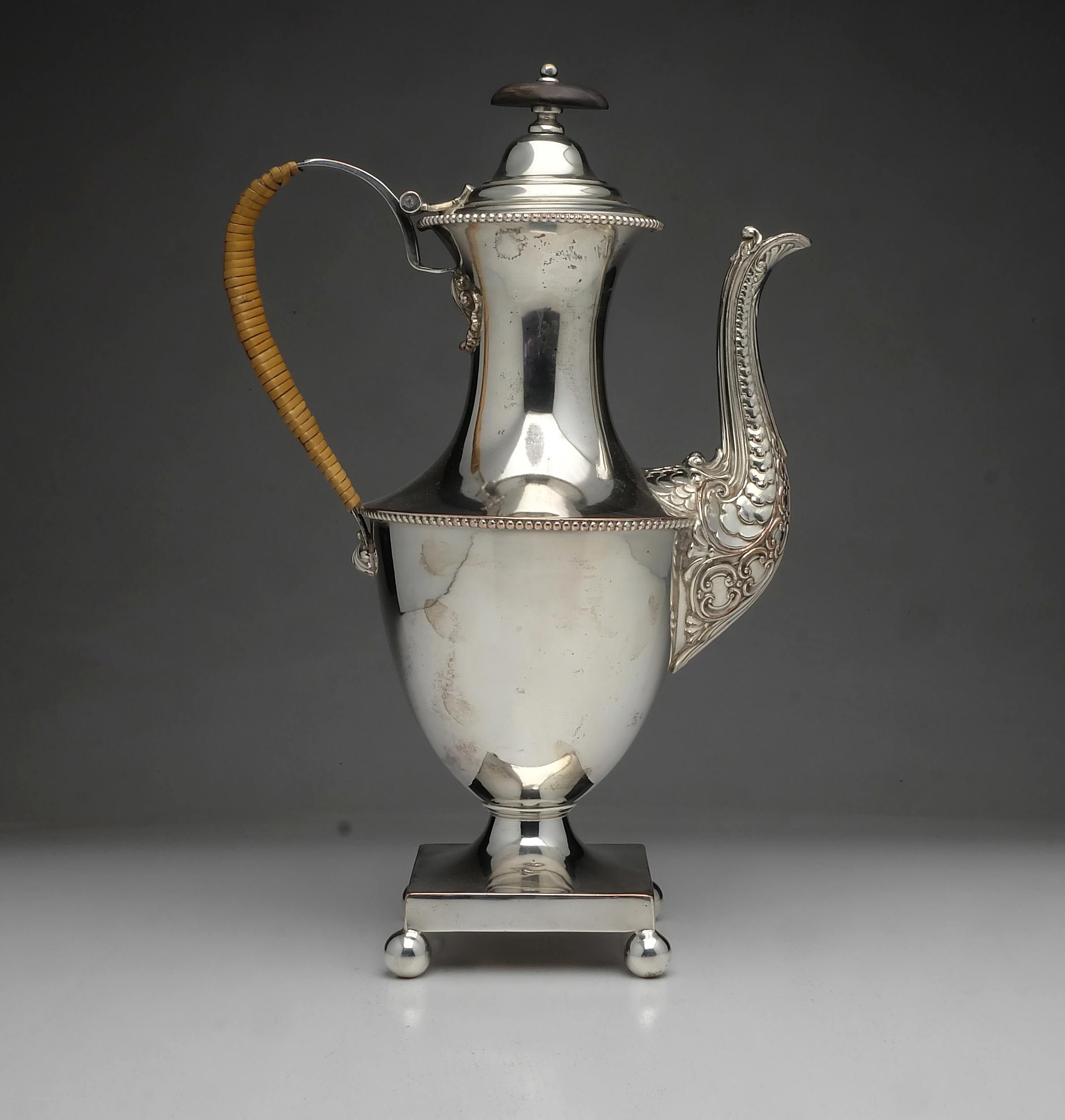 'Georgian Sheffield Plate Coffee Pot'
