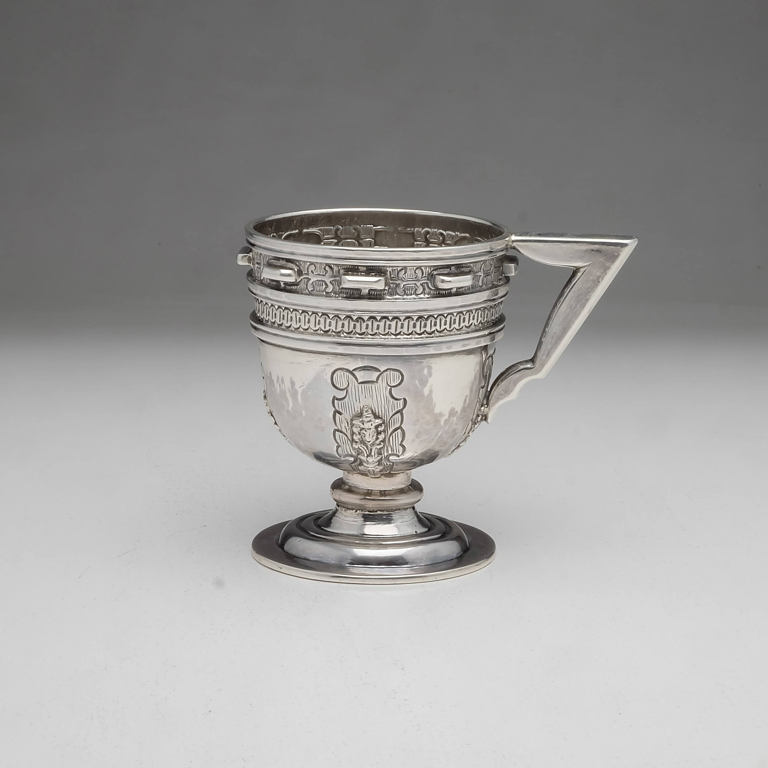 'Spanish Silver Handled Mug in the Renaissance Style 217g'