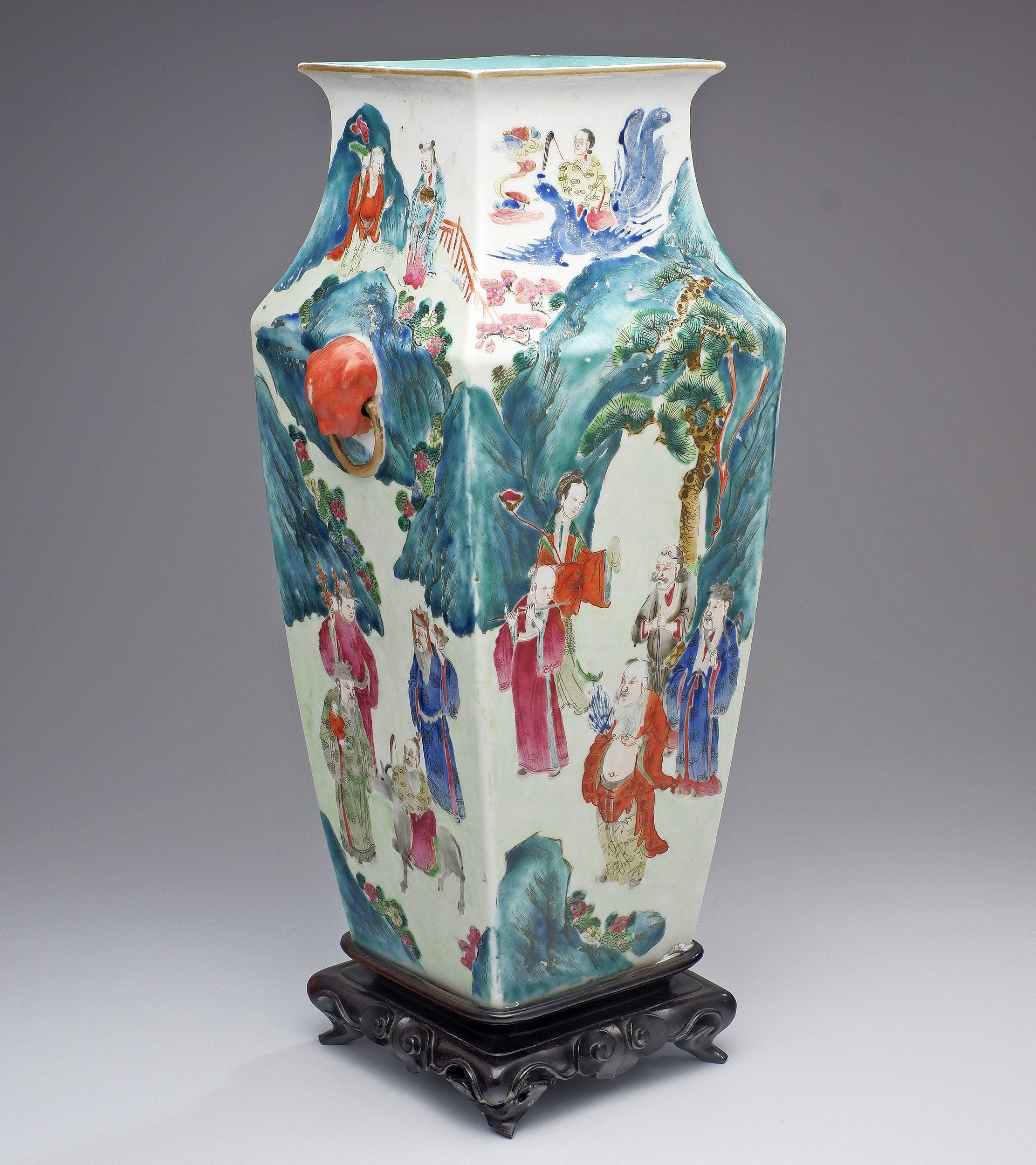 'Large Chinese Famille Rose Vase, Late 19th Century'