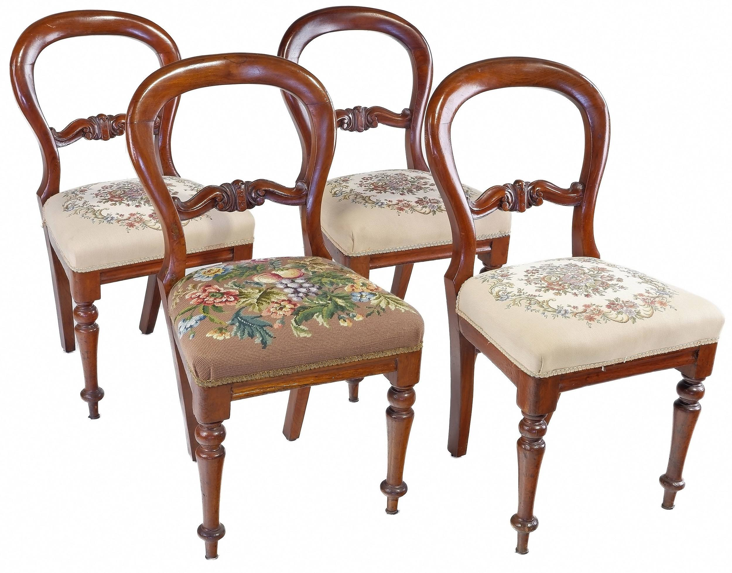 'Four Australian Cedar Balloon Back Chairs Late 19th Century'