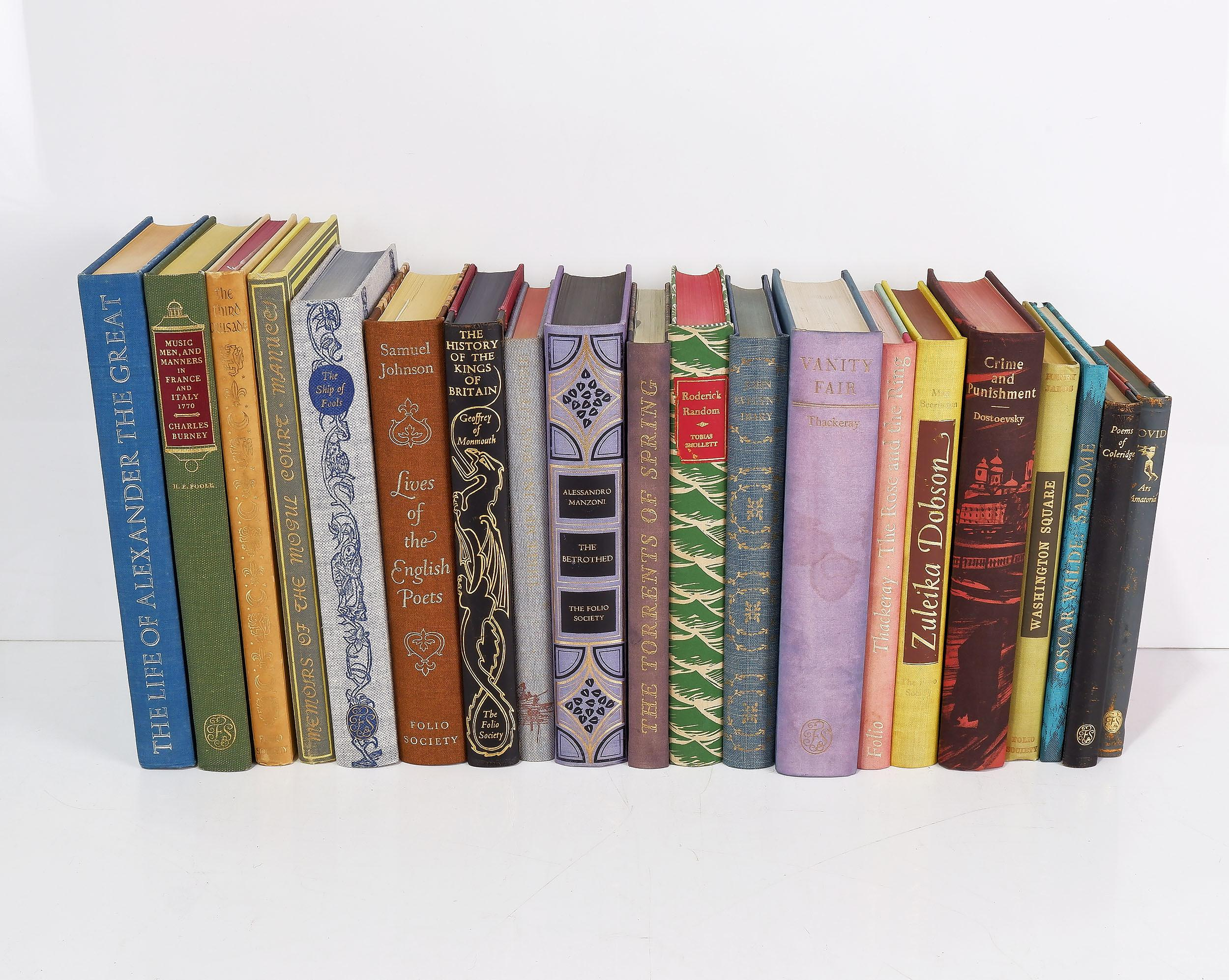 'Twenty Various The Folio Society Books Including The Life of Alexander the Great, Lives of the English Poets, The History of the Kings of Britain and More'
