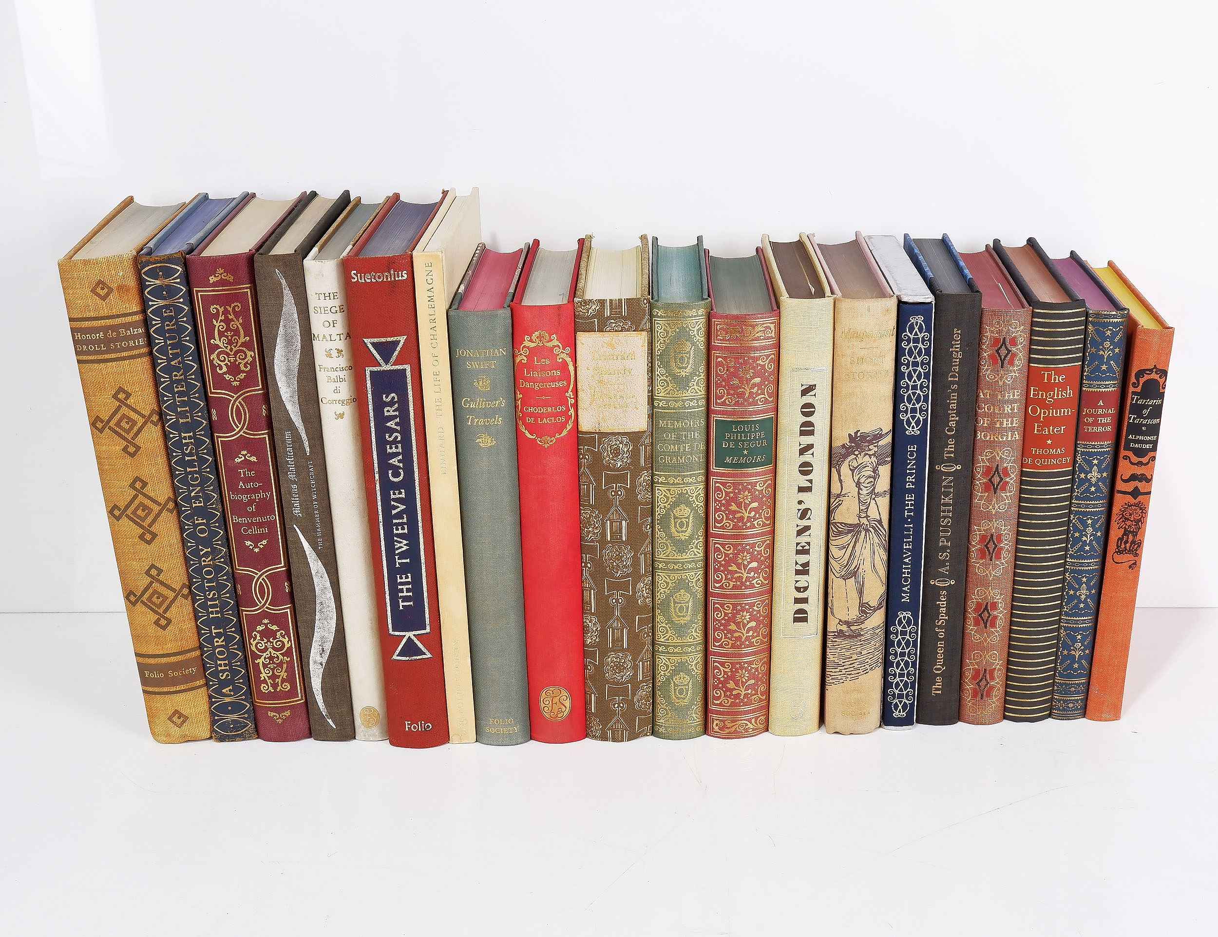'Twenty Various The Folio Society Books Including The Twelve Caesars, Dickens London, A Short History of English Literature, The English Opium Eater and More'