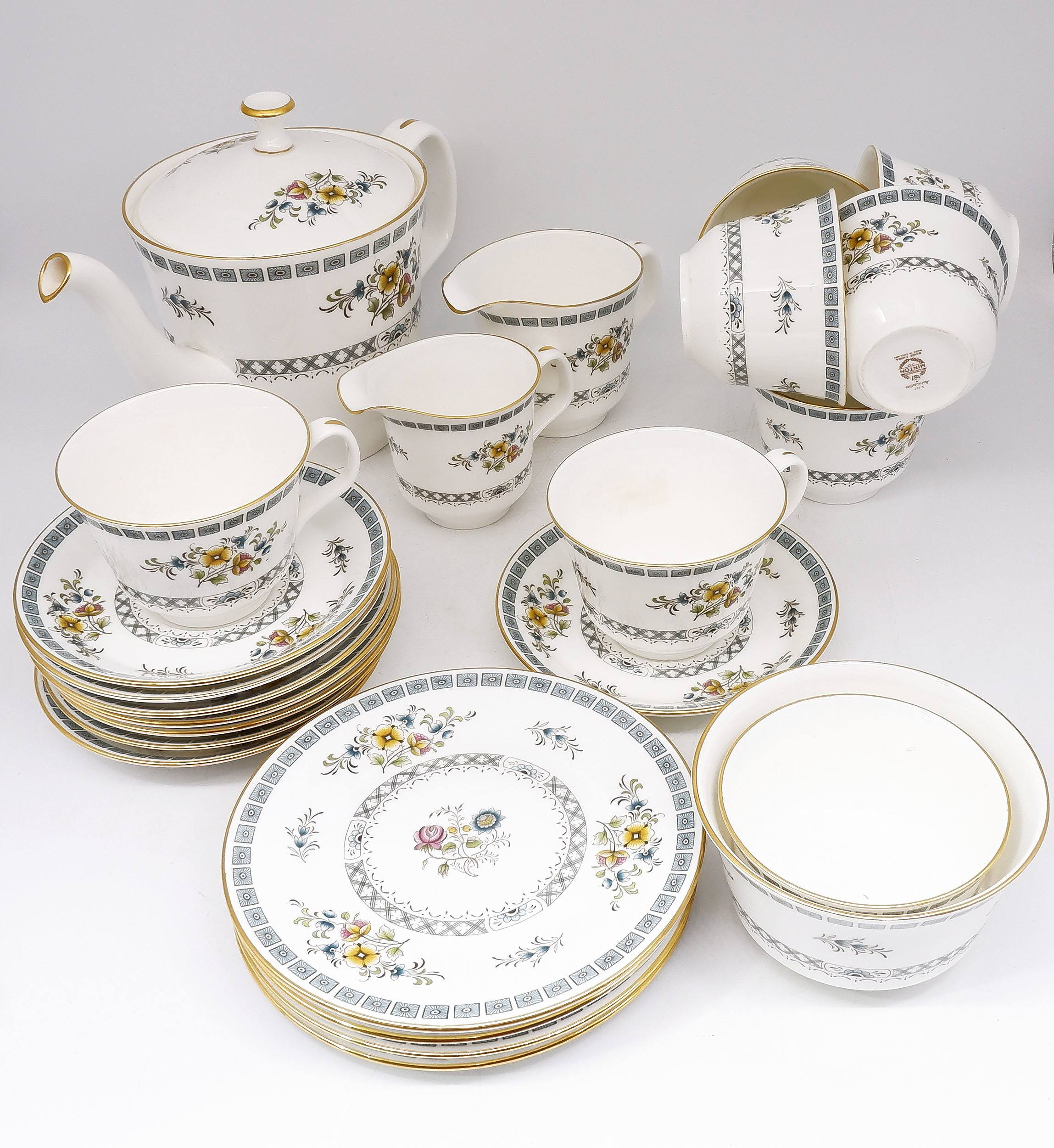 'Minton Avignon Bone China Part Tea Setting '