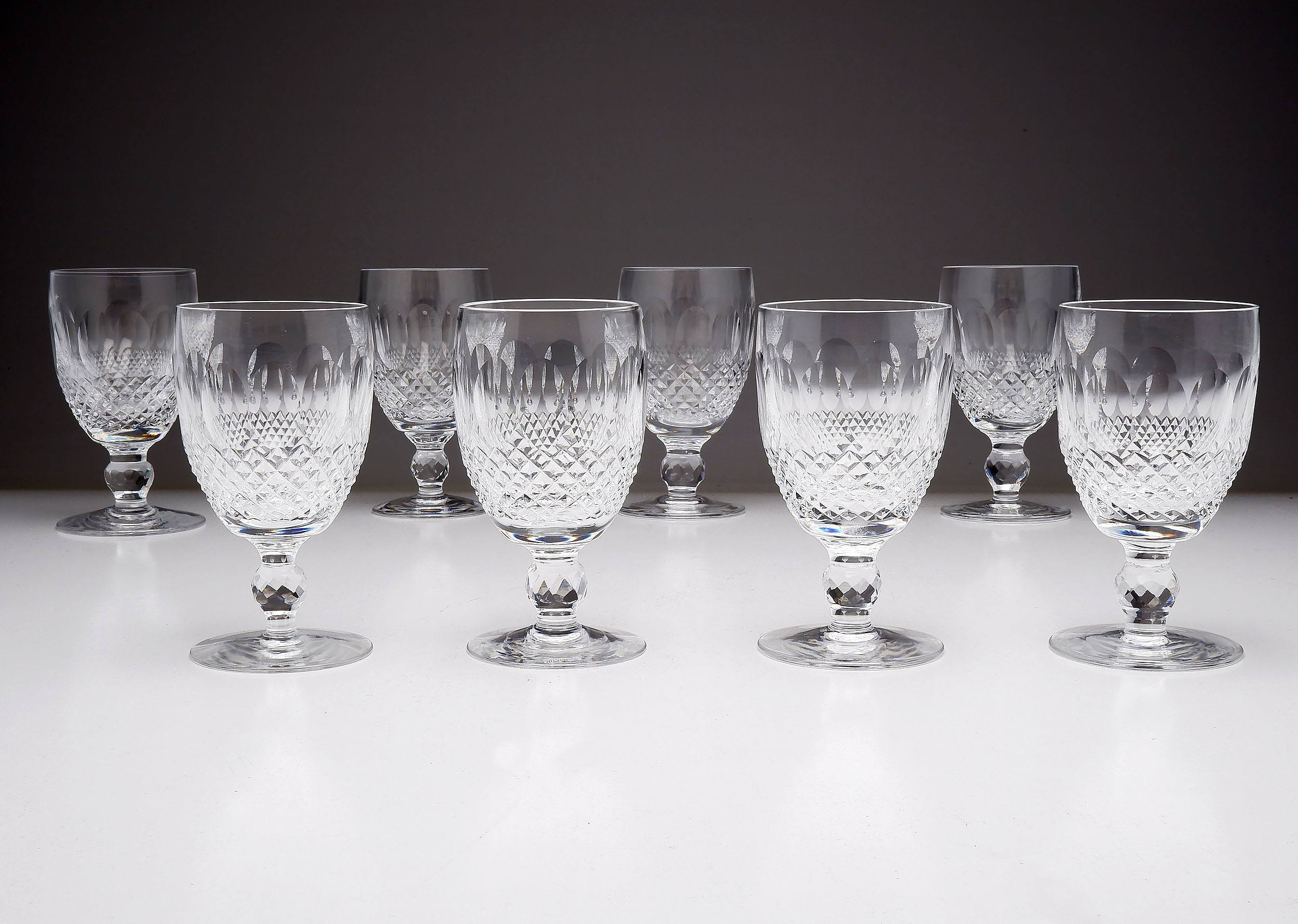 '8 Waterford Crystal Port Glasses'