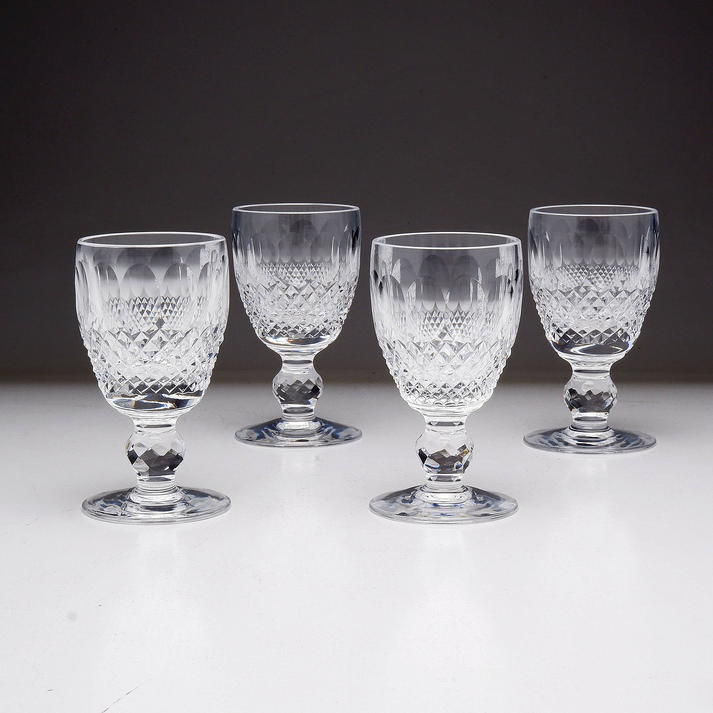 'Four Waterford Crystal Port Glasses'