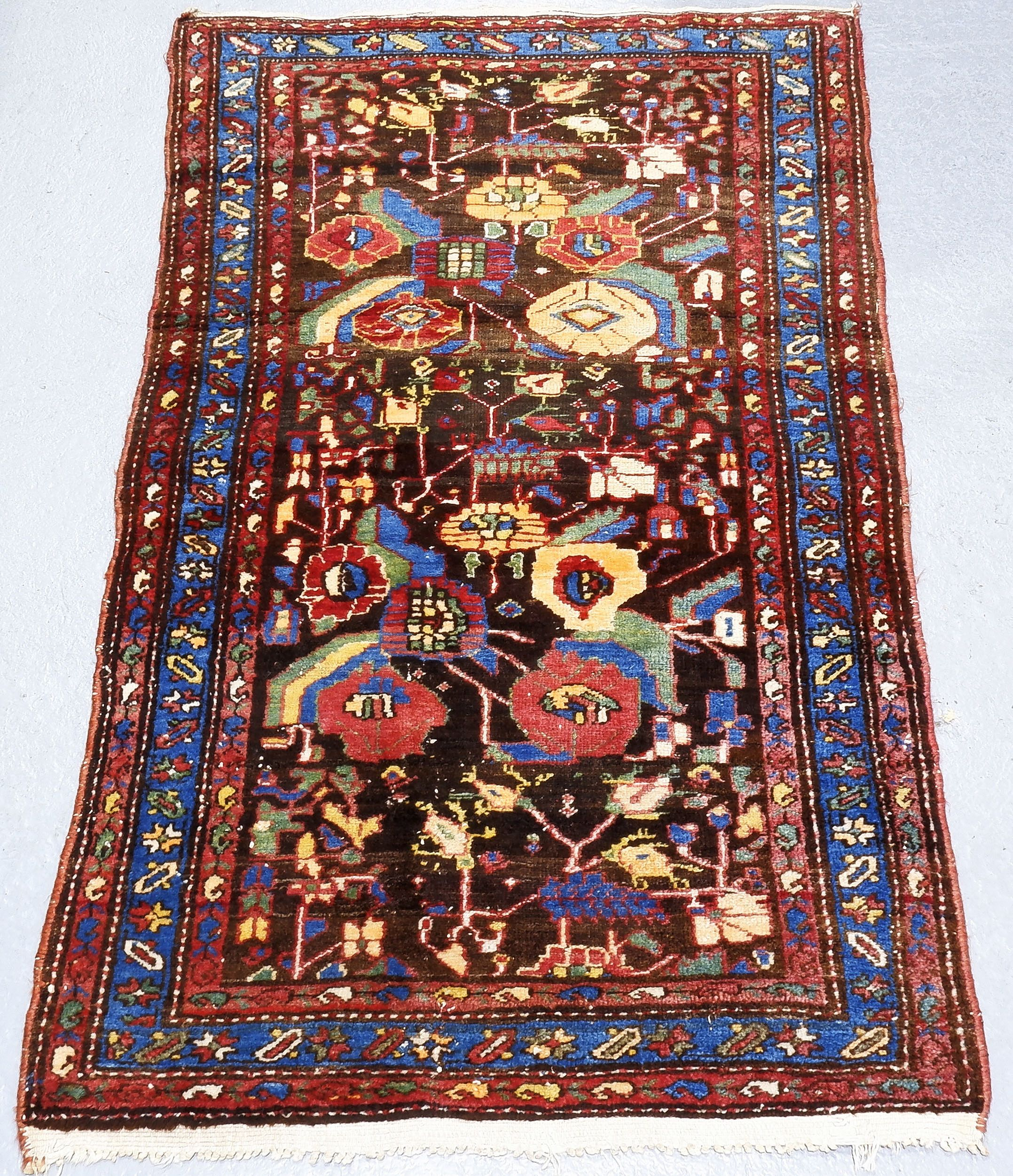 'Antique Caucasian Hand Knotted Wool Pile Rug'