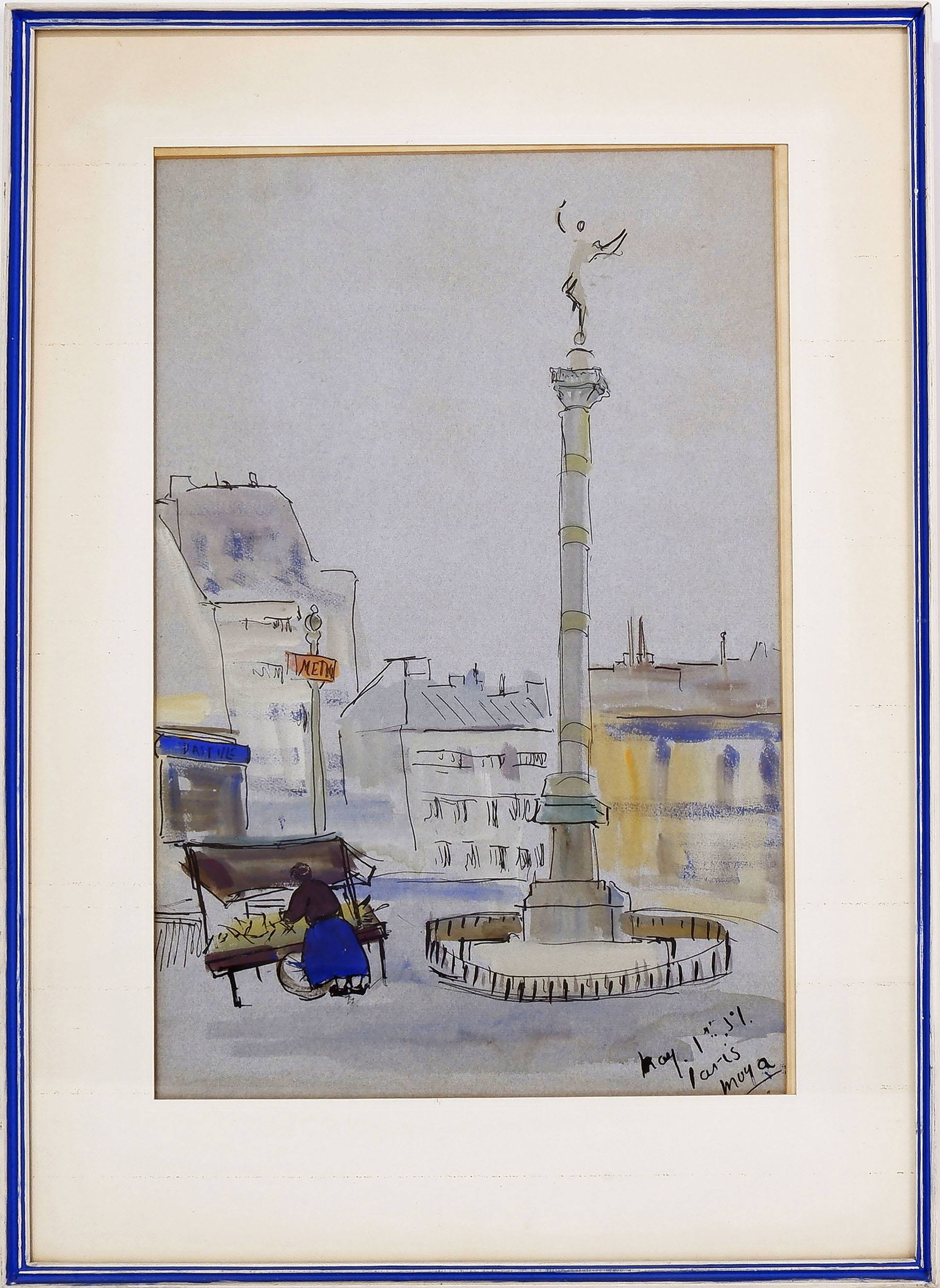 'Moya Dyring (1908-67) Paris, Watercolour and Ink '
