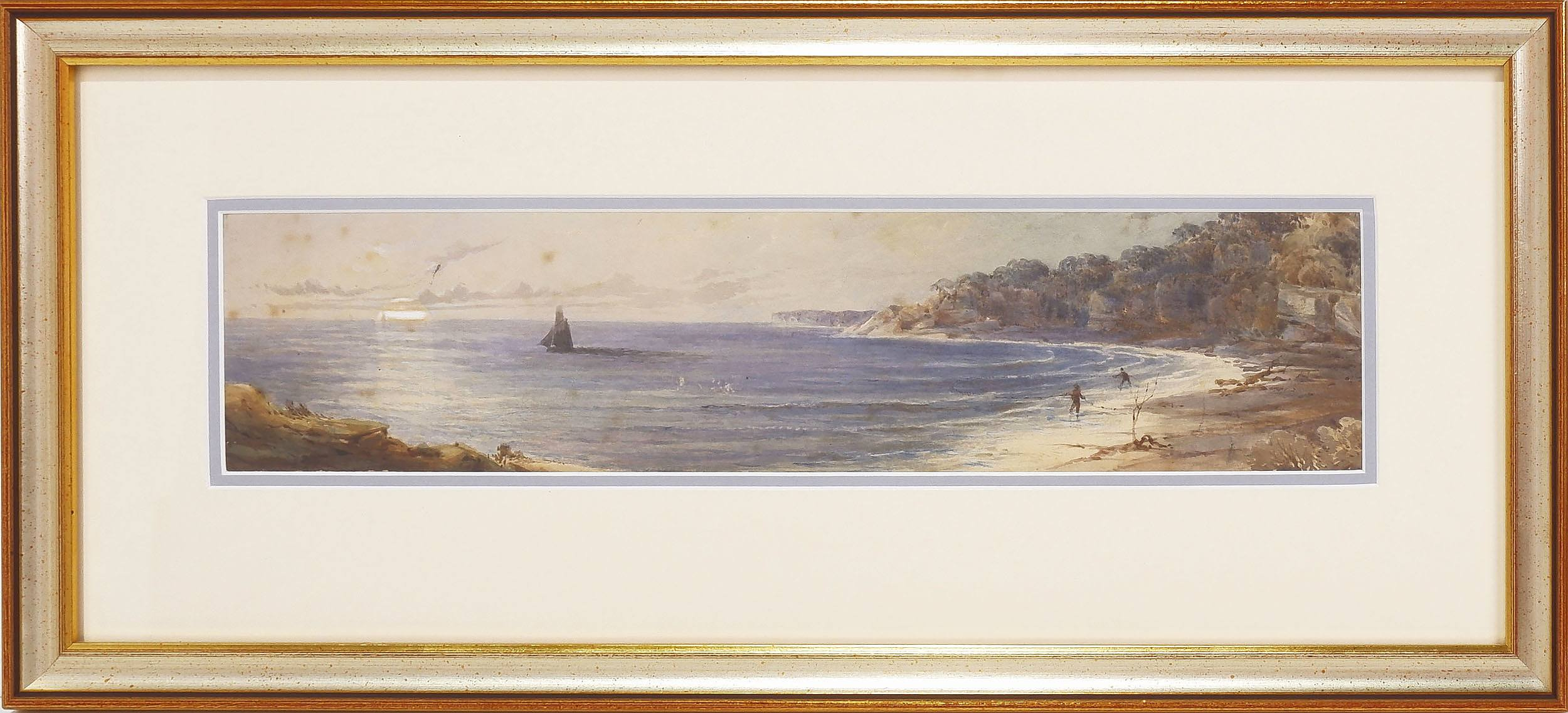 'Frederick Casemero Terry (1827-69) View Towards Sydney Heads, Watercolour Circa 1860'