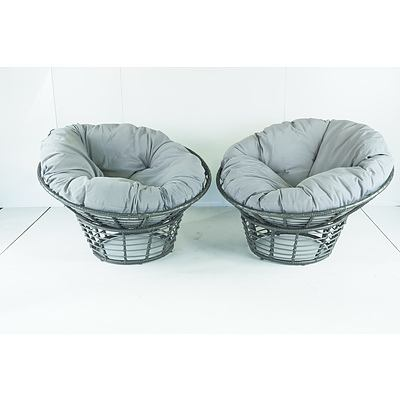 Pair of Outdoor Half-Pod Chairs