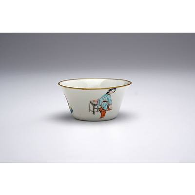 Finely Potted Chinese Famille Rose Wine Cup, Qing Dynasty, 19th Century
