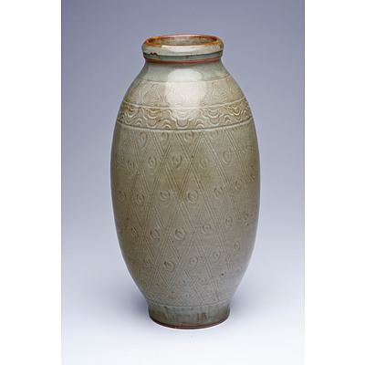 Longquan Style Celadon Vase, 19th/20th Century