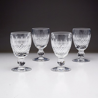 Four Waterford Crystal Port Glasses