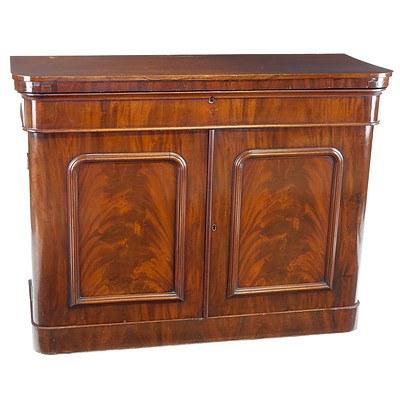 Victorian Mahogany Bookcase Base Circa 1880