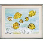 Brayda Woodruff Tropical Fish Watercolour
