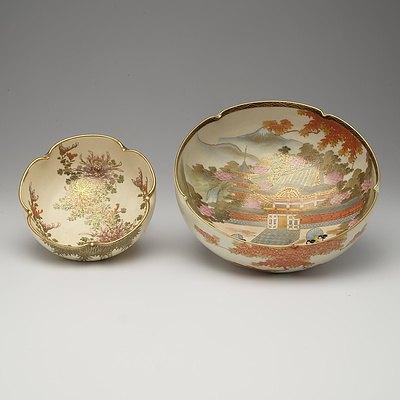 Two Japanese Satsuma Bowls