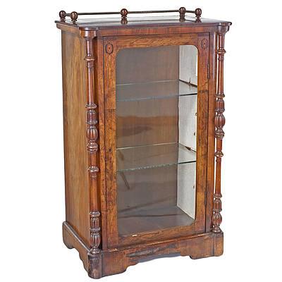 Late Victorian Inlaid Walnut Pier Cabinet Circa 1880
