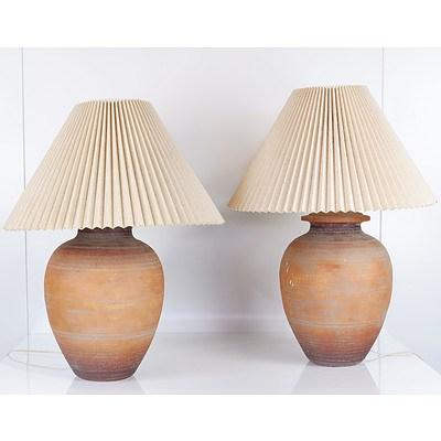 Pair of Ceramic Base Table Lamps