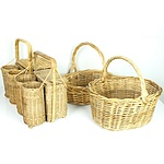 Group of Various Basketry
