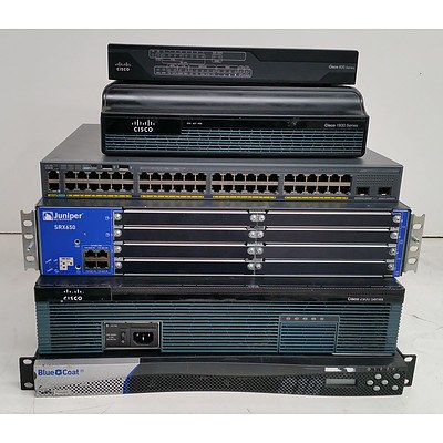 Lot of Assorted Networking Equipment - Switch, Routers and Security Appliance
