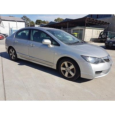 9/2010 Honda Civic Vti-l 4d Sedan Silver 1.8L